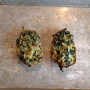 A recipe twice baked potato Joy made and enjoyed