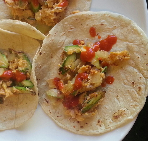 A favorite use for asparagus: breakfast tacos